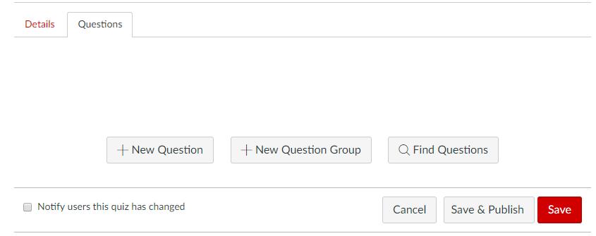New question screen capture