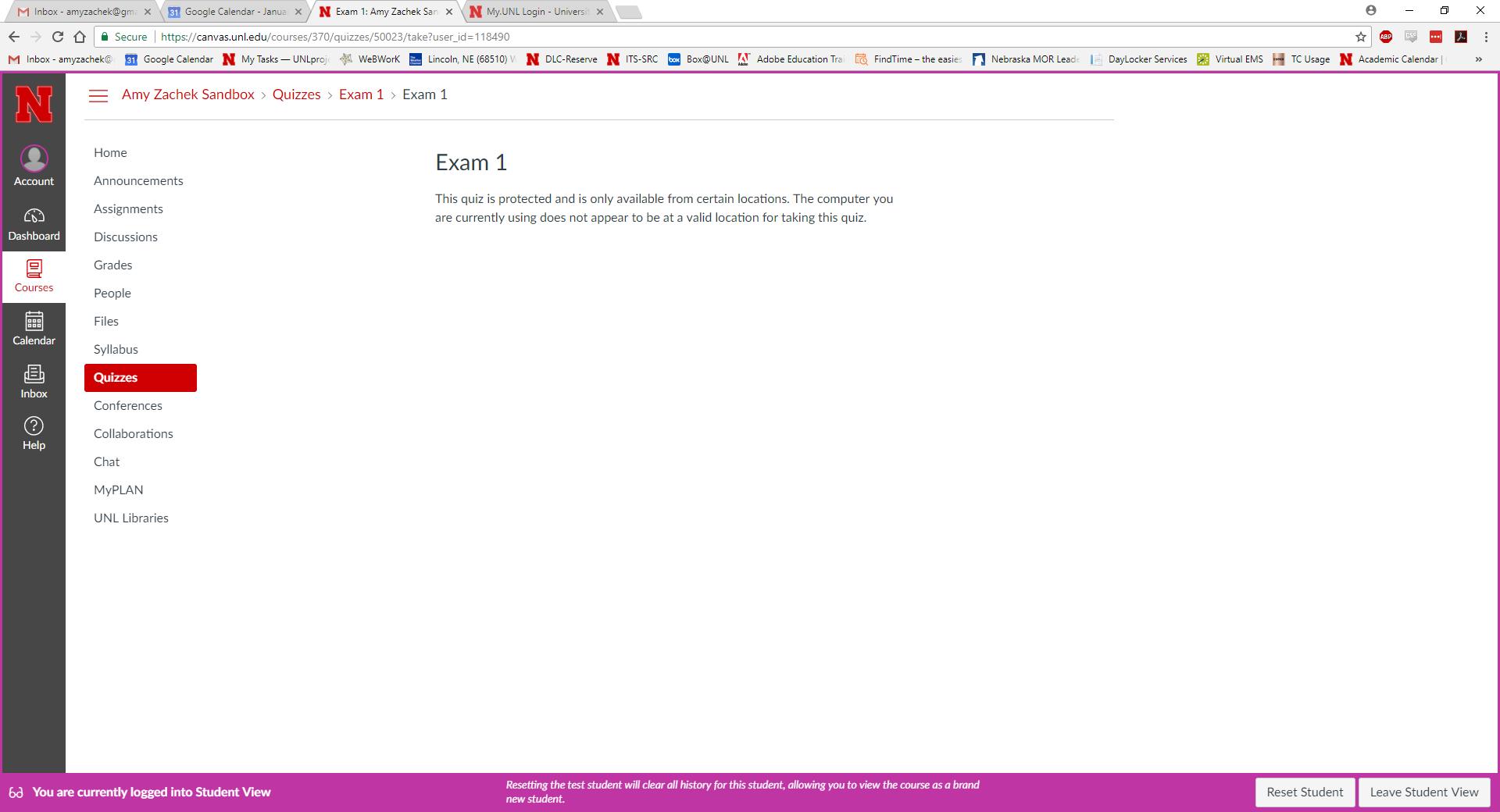 IP filter student error message screen capture