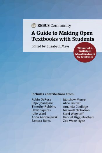 Cover image for A Guide to Making Open Textbooks with Students